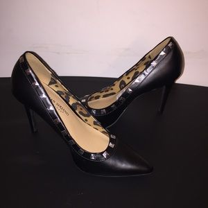 Christian Siriano Payless Black Studded Heels 7